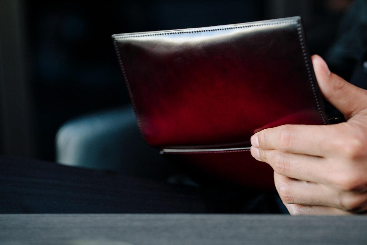 コードヴァンの長財布が仕上がりました
